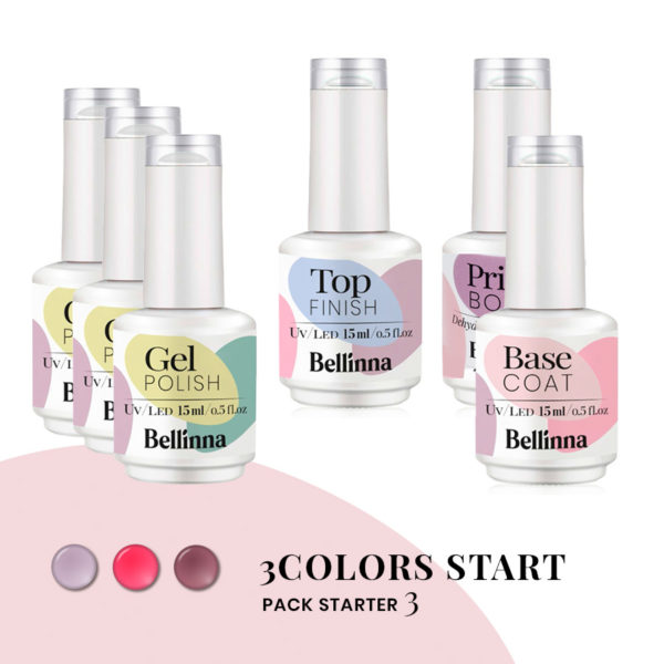 Pack Starter 3 Bellinna Cosmetics 3COLORS START