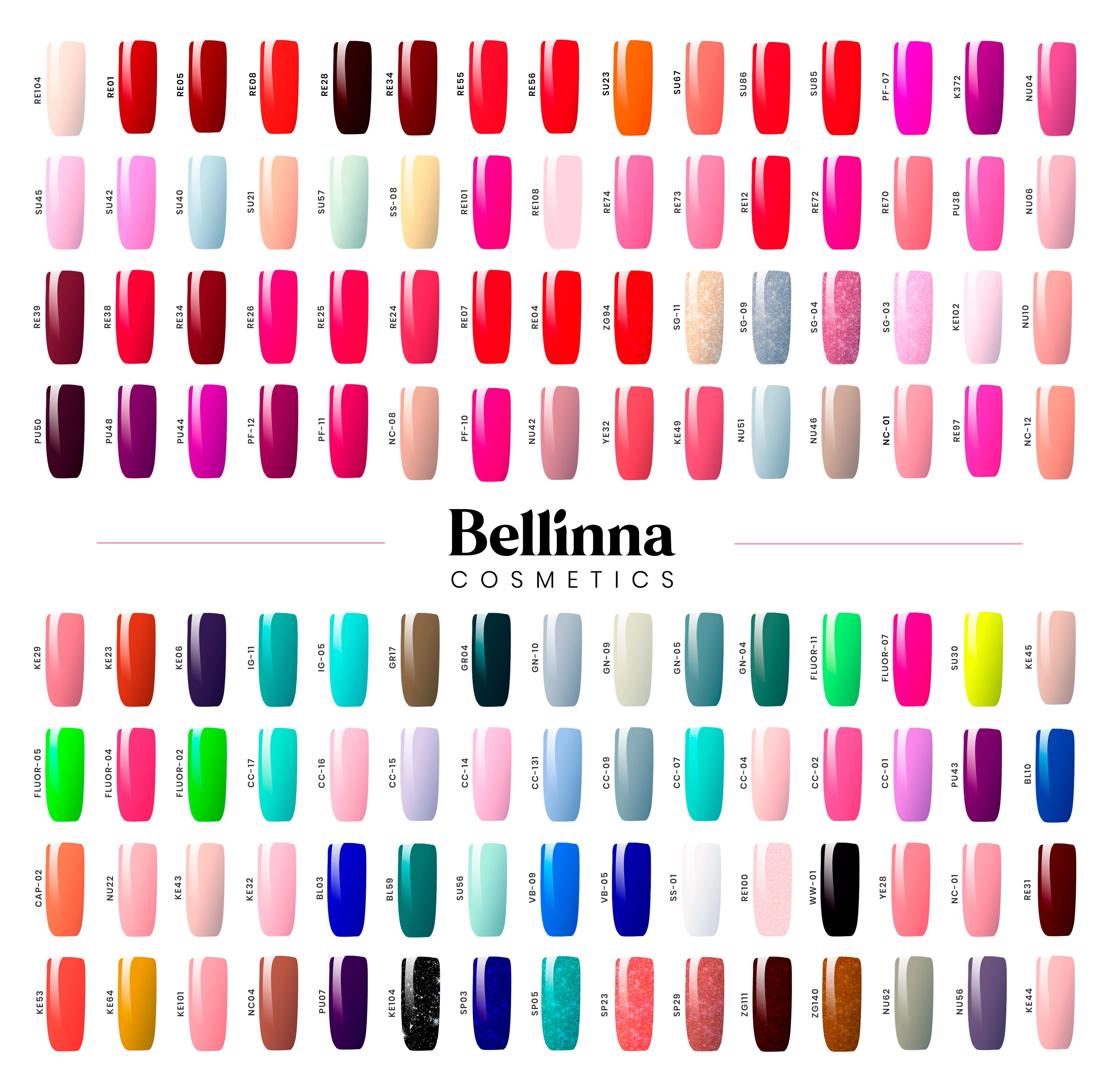 Esmalte Semipermanente Color CC02 - Bellinna